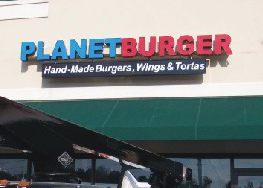 Planet Burger Sign