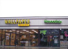 Wallpaper and Smoothie Signs