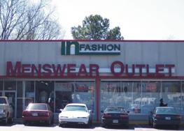 Menswear Outlet Sign