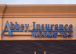 Abbey Insurance Sign