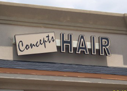 Concepts Hair Sign